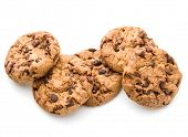 image of dainty  - Chocolate cookies isolated on white background cutout - JPG
