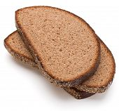 image of fresh slice bread  - Slice of fresh rye bread isolated on white background cutout - JPG