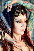 picture of belly-dance  - Close - JPG