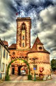 stock photo of chateau  - The tower of the castle  - JPG