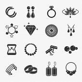 Постер, плакат: Jewelry icons