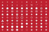 stock photo of decorative  - Star Shapes Set - JPG