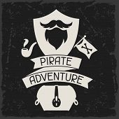 foto of pirates  - Background on pirate theme with objects and elements - JPG