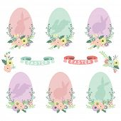 stock photo of easter eggs bunny  - Easter Eggs Collections - JPG