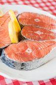 foto of salmon steak  - Salmon - JPG