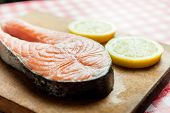 image of salmon steak  - Salmon - JPG