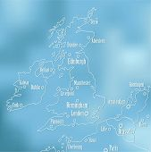 picture of ireland  - Creative Great Britain map and Ireland - JPG