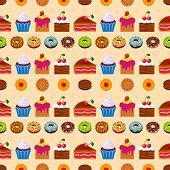 Постер, плакат: Seamless Dessert Background