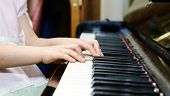 picture of grand piano  - Girl - JPG