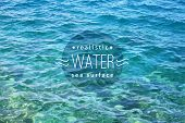 picture of  realistic  - vector realistic water texture with sample text - JPG