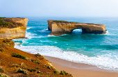 pic of 12 apostles  - London Bridge at The Twelve Apostles a famous collection of limestone stacks off the shore of the Port Campbell National Park by the Great Ocean Road in Victoria Australia - JPG