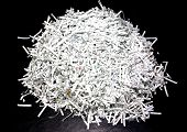 Shredded Paper On The Table.