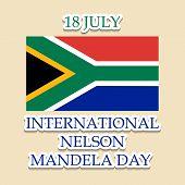 picture of nelson mandela  - illustration of a stylish text for International Nelson Mandela Day - JPG