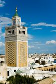 Mosque Tower In Tunis