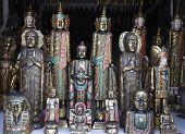 image of woodcarving  - Woodcarved buddha - JPG