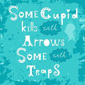 stock photo of cupid  - Some cupid kills with arrows some with traps - JPG