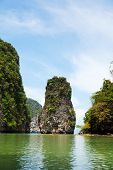 picture of james bond island  - Khao Phing Kan is a pair of islands on the west coast of Thailand in the Phang Nga Bay Andaman Sea near Phuket - JPG