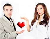 picture of red hair  - young couple - JPG