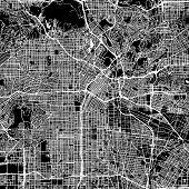 Los Angeles Vector Map poster