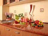 fresh vegetables in a cozy kitchen