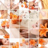foto of lillies  - healthy spa collage - JPG