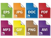stock photo of png  - document icons - JPG