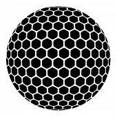 image of dimples  - vector golf ball - JPG