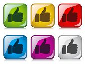 vector thumbs up buttons