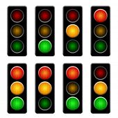 picture of traffic light  - vector semaphores - JPG
