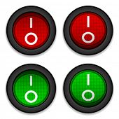 vector circle toggle power switches