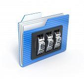 Folder with code - 3d render
