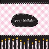 Birthday card with candles and place for text