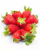 A Crown Of Strawberries On A White Background