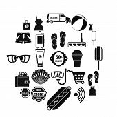 Tourist Shop Icons Set. Simple Set Of 25 Tourist Shop Vector Icons For Web Isolated On White Backgro poster