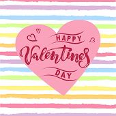 Happy Valentines Day Vector Illustration poster