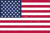 Grunge American Flag.vector Flag Of Usa.background American Flag (usa). poster