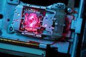 laser lens of dvd drive macro