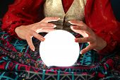 image of fortune-teller  - hands of a fortune - JPG