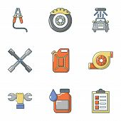 Auto Refresh Icons Set. Flat Set Of 9 Auto Refresh Vector Icons For Web Isolated On White Background poster