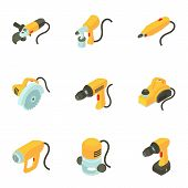 Instrument Icons Set. Cartoon Set Of 9 Instrument Icons For Web Isolated On White Background poster