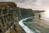 stock photo of cliffs moher  - Cliffs of Moher in Ireland - JPG