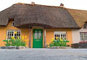 Irish traditional cottage house in Adare - landmark