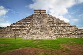 Kukulkan pyramid of Chichen Itza in Mexico