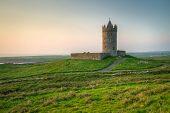 Doonagore castle at sunset - Ireland