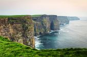picture of cliffs moher  - Cliffs of Moher at sunset  - JPG