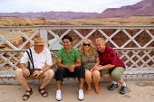 Tourists on Navajo Bridge