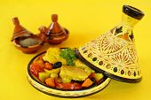 picture of tagine  - Moroccan chicken tagine - JPG