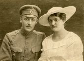 Vintage wedding photo (during First World War)