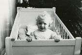 Vintage photo of baby girl (fifties)