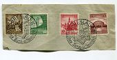GERMANY CIRCA 1938 -German Reich 1938 - 3th Reich Sport Festival in Breslau, 4 stamps series with special cancellation, GERMANY CIRCA 1938